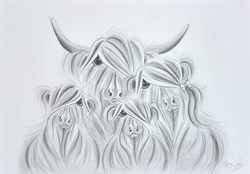 Our Baby McMoos Sketch by Jennifer Hogwood -  sized 17x12 inches. Available from Whitewall Galleries